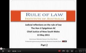 Click here for JJ Spigelman - Reflections on the Rule of Law - Part 2