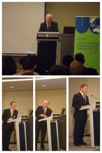 The Hon. George Brandis SC, Professor Gerard Carney, Professor Douglas Fisher, The Hon. Graham Perret MP
