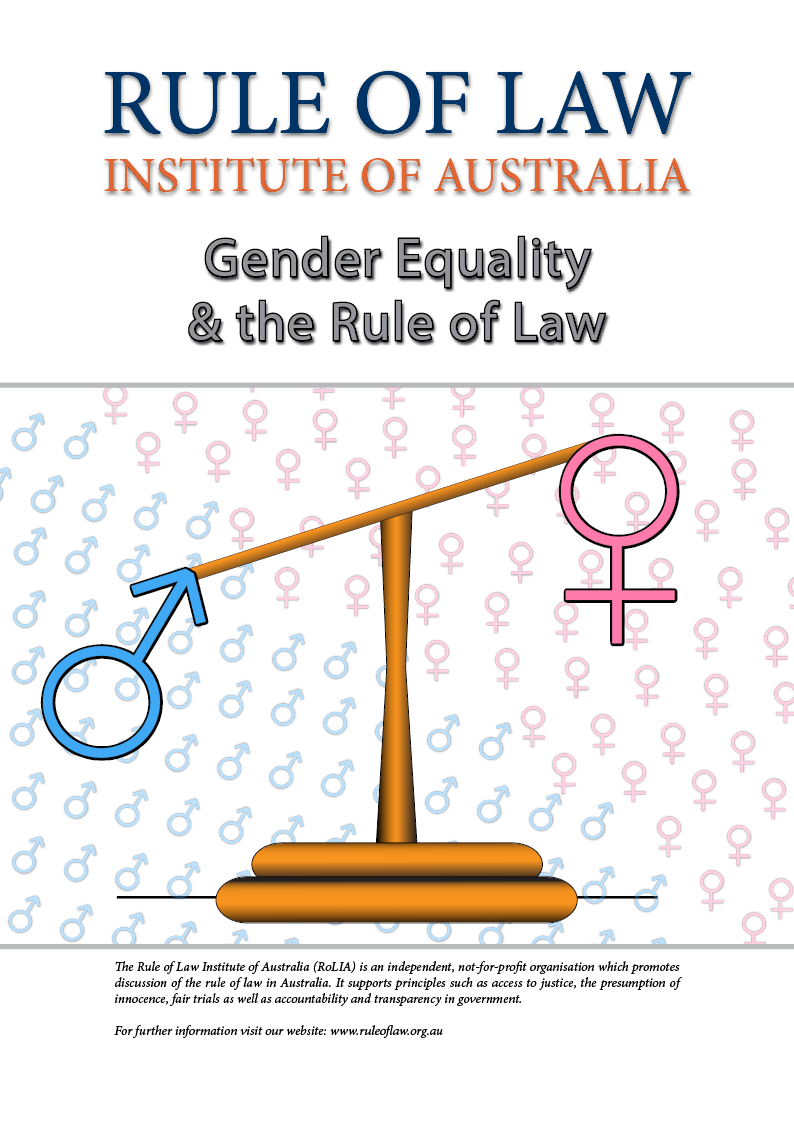 human rights and the rule of law rule of law institute of  gender equality and the rule of law