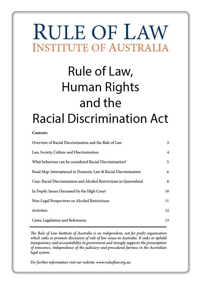 Australia anti discrimination law