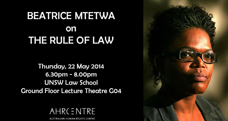 Event – Beatrice Mtetwa on the Rule of Law Film Screening and Q&A