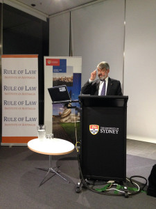 Nicholas Cowdery AM QC at Sydney Law School Distinguished Speakers Lecture