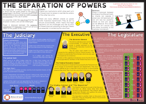 The rule of law and the separation of powers