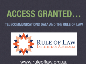 Rule of Law Institute Access Granted