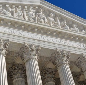 The facade of the US Supreme Court