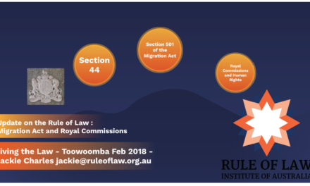 Rule of Law Update – Living the Law 2018