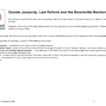 Double Jeopardy and Law Reform
