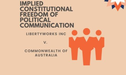Libertyworks and Implied Freedom of Political communication